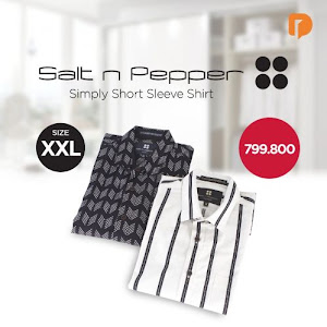 Salt N Pepper Simply Short Sleeve Shirt Size XXL (Set of 2)