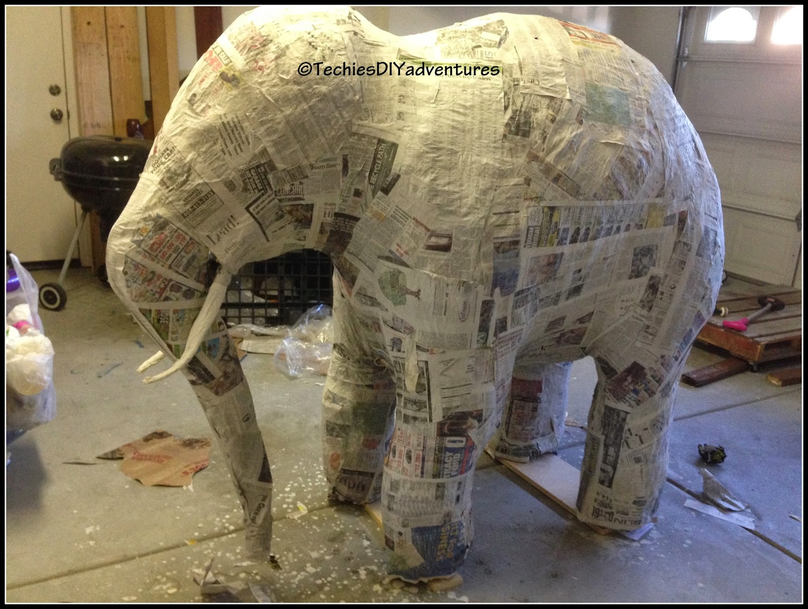 Tutorial On How To Make Paper Mache Elephant Almost Life