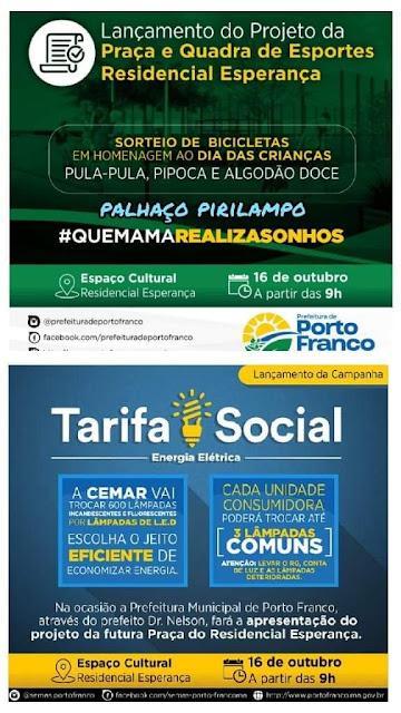 Prefeito Nelson Horácio lança dois projetos nesta quarta-feira!!!