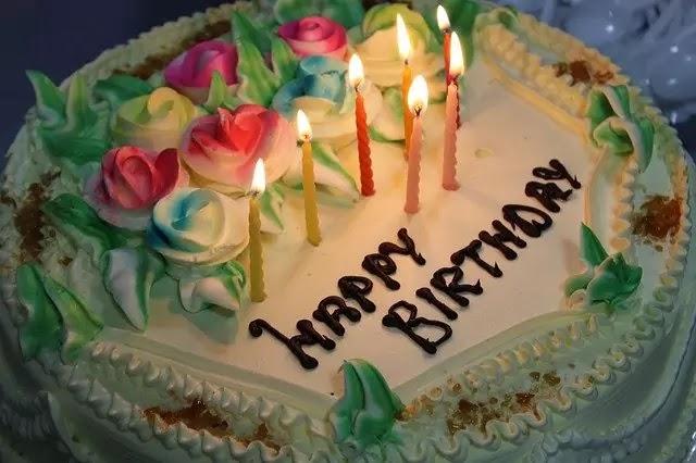 happy birthday cake text