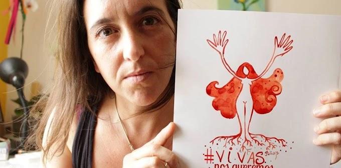 Una mujer hace arte menstrual ¡con su propia sangre!
