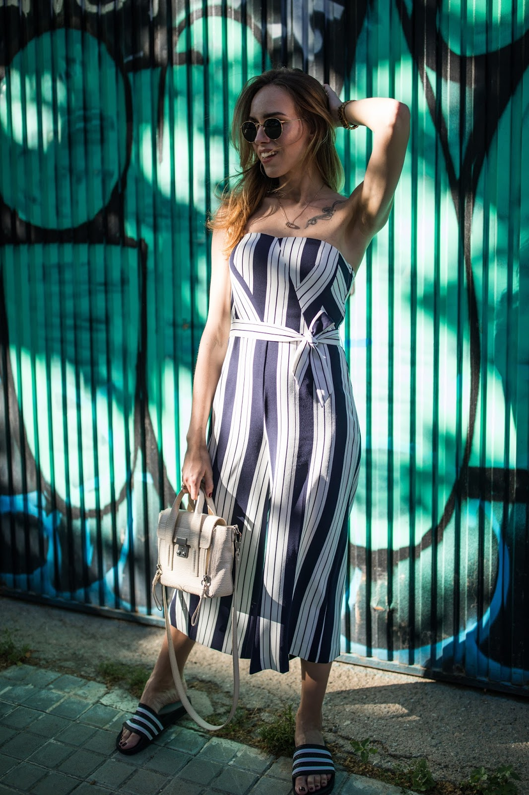 strapless jumpsuit summer outfit
