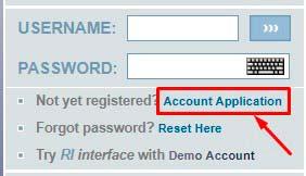 Регистрация в RapidInterest 1