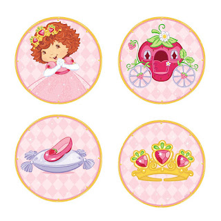 Toppers o Etiquetas de Strawberry Shortcake para  imprimir gratis.