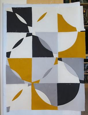 Luna Lovequilts - Improv curve quilt - Piecing in progress
