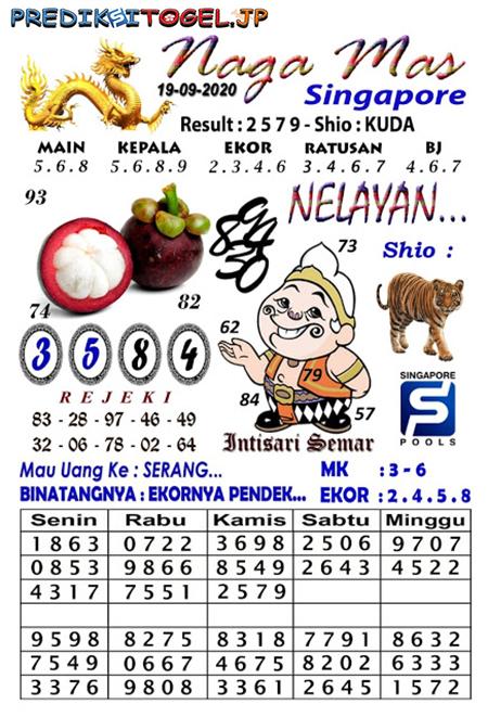Syair SGP Nagamas Sabtu 19 September 2020