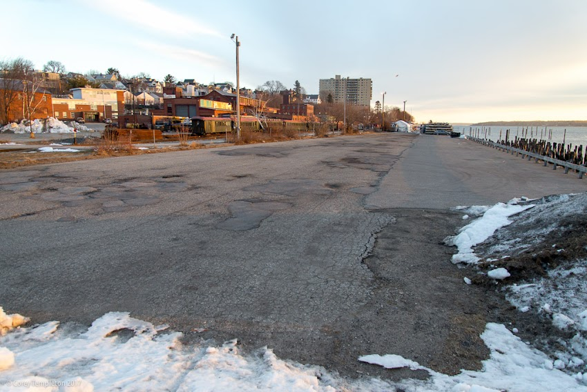 Portland, Maine USA January 2017 photo by Corey Templeton of the Amethyst Lot on the Eastern Waterfront future park.