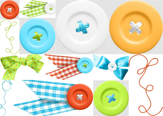 Buttons and Bows of the Pretty Toy Store Clip Art.