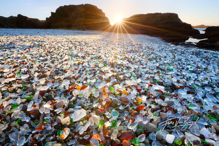 33 Amazing Beaches From Around The World - Glass Beach, California, USA