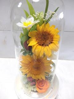 プリザーブドフラワーヒマワリ供養花
