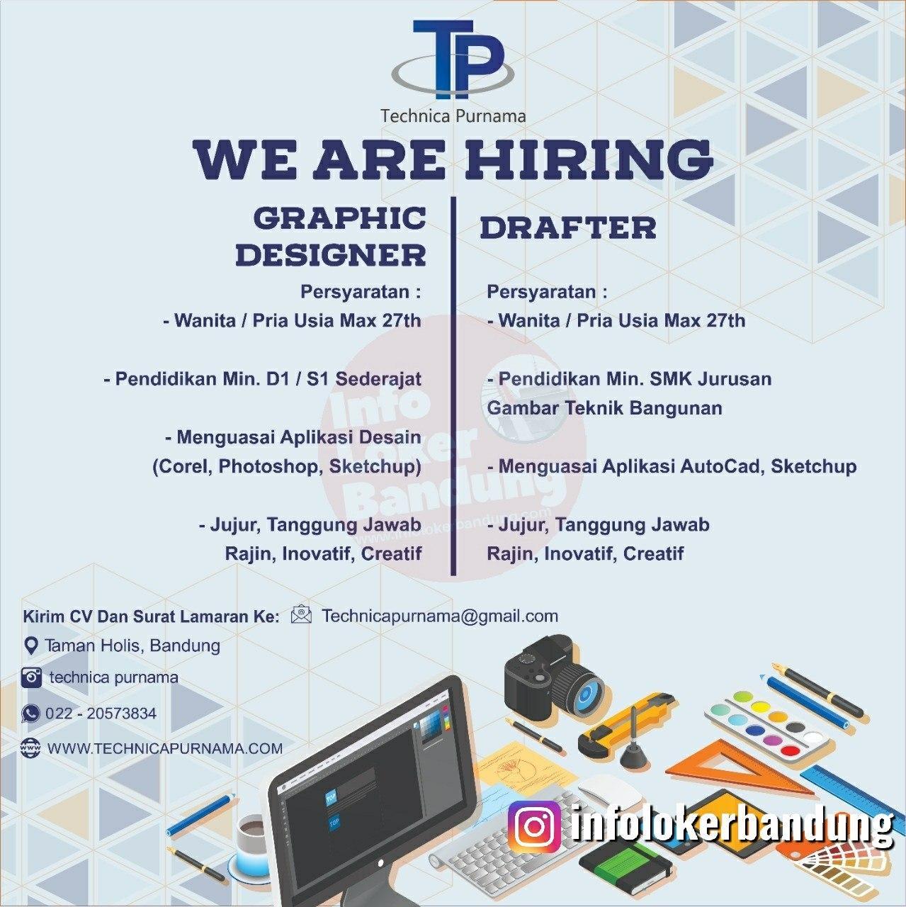 Lowongan Kerja Drafter & Graphic Designer Bandung Januari 2020