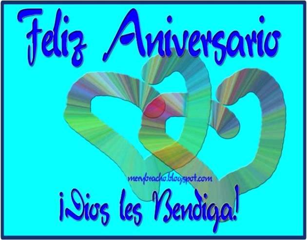 Mensajes De Feliz Aniversario Cristiano: Feliz Aniversario De Bodas. Dios Les Bendiga