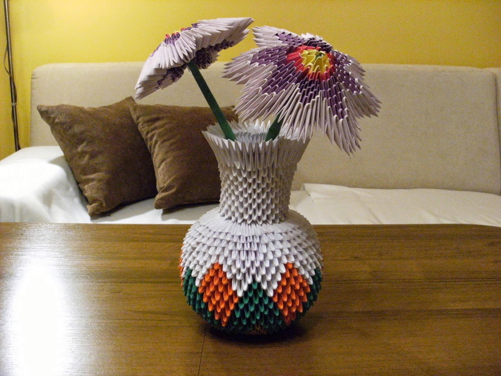 Make 3d Origami Vase Kids Origami Instructions Easy