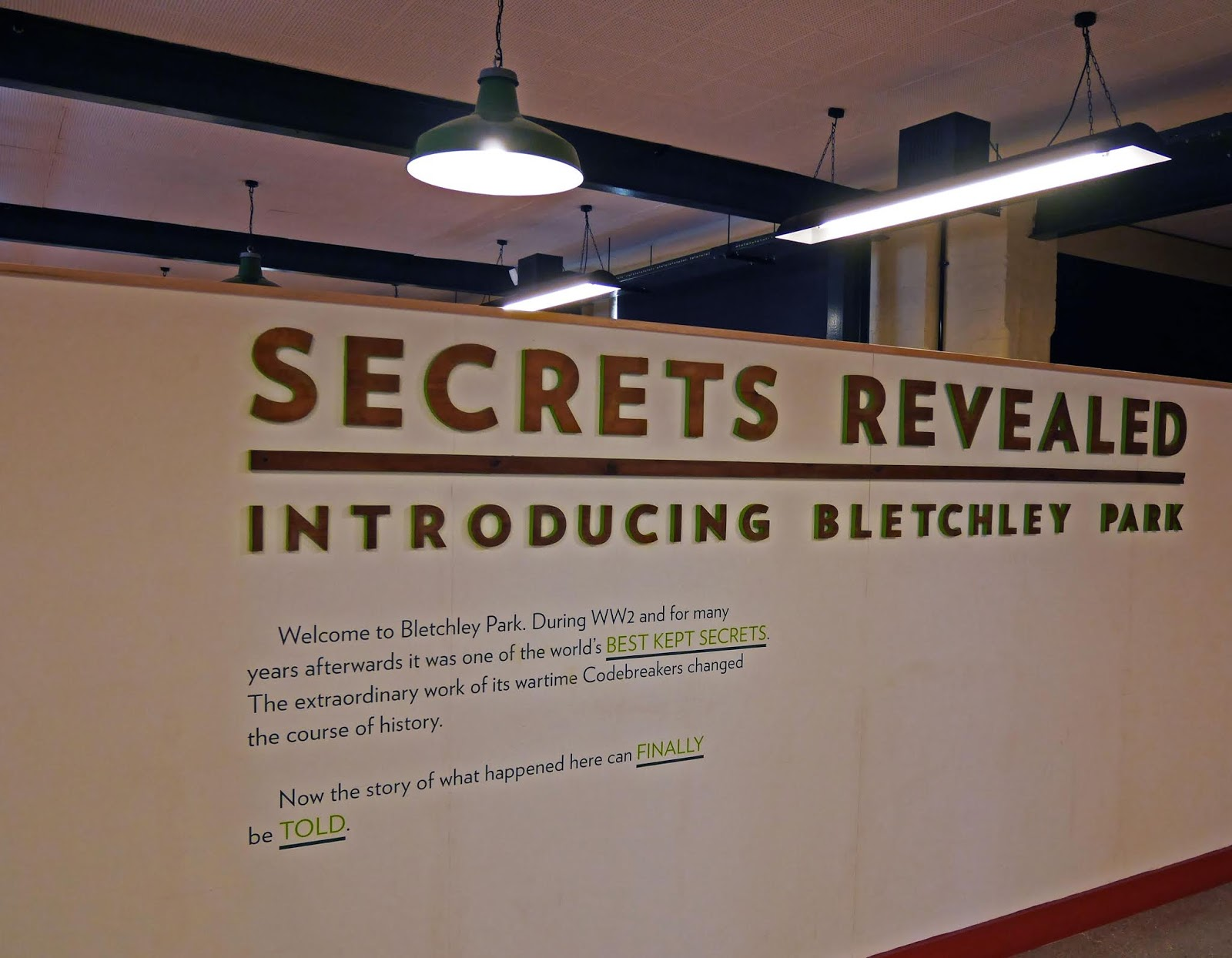 Secrets Revealed: introductory exhibition at Bletchley Park
