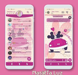 Mickey & Minnie Love Theme For YOWhatsApp & Fouad WhatsApp By Natalia Luz