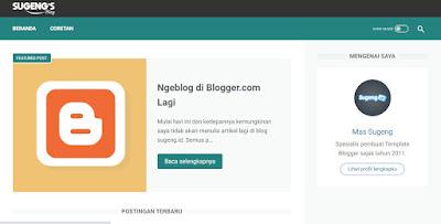 Mas Sugeng buat blog baru. Sugengblog.com