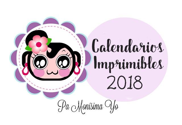Calendarios imprimibles 2018 monerias en fieltro pamonisimayo