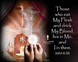 the benefits of the holy Eucharist