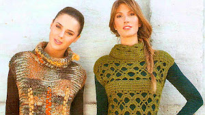 Chalecos con Cuello Alto para Tejer en Crochet y en Dos Agujas