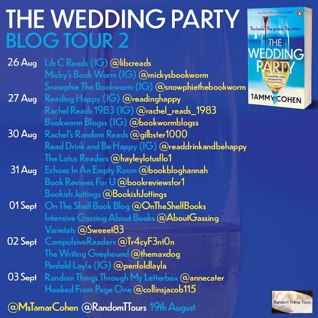 The Wedding Party by Tammy Cohen book blog tour banner