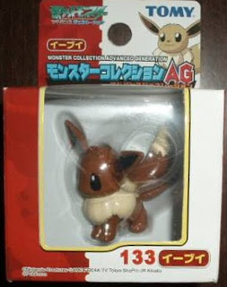 Eevee Pokemon figure Tomy Monster Collection AG series
