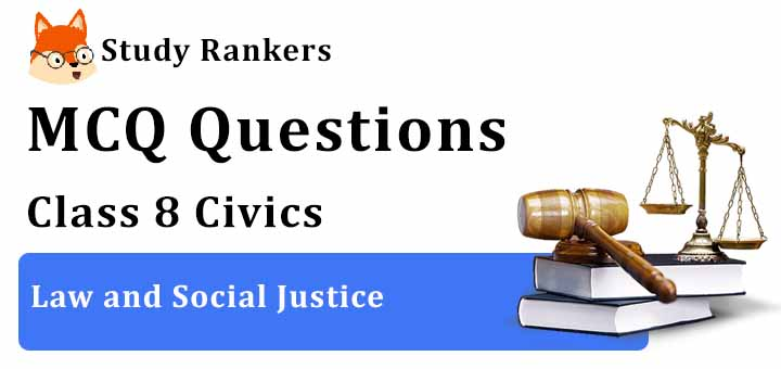 MCQ Questions for Class 8 Civics: Ch 9 Law and Social Justice