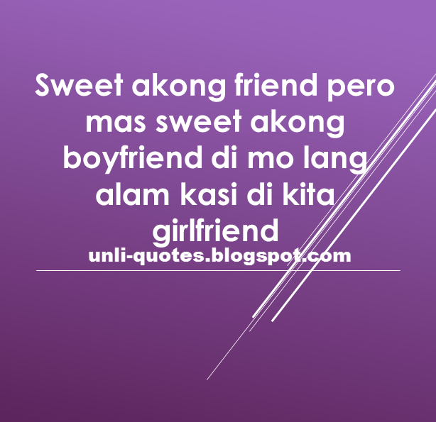 Love quotes tagalog sweet for him