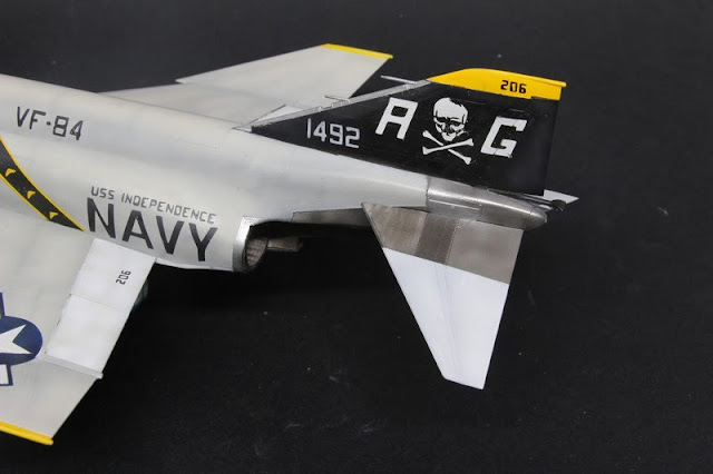 F-4B Phantom II,Eduard 1/48, Réalisation de la tuyère.
