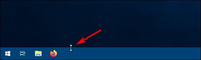 استخدام مؤشر تغيير الحجم لتغيير حجم شريط المهام في Windows 10