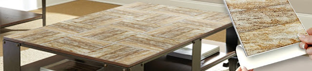 Self adhesive wall tiles table makeover