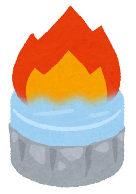 固形燃料のイラスト(火)