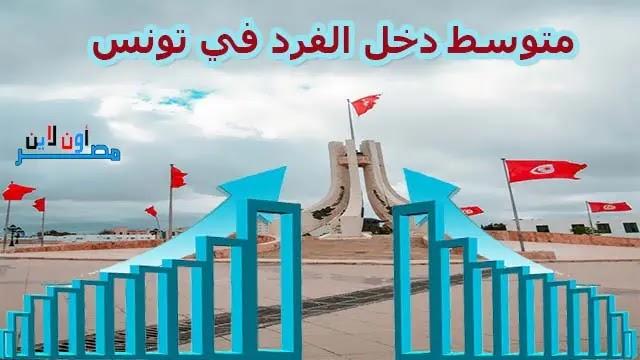 متوسط دخل الفرد في تونس، مستوي معيشة الفرد في تونس، دخل الفرد في تونس