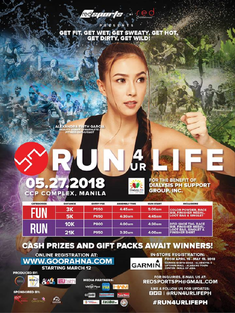 Run 4 Ur Life will be happening on May 27, 2018!
