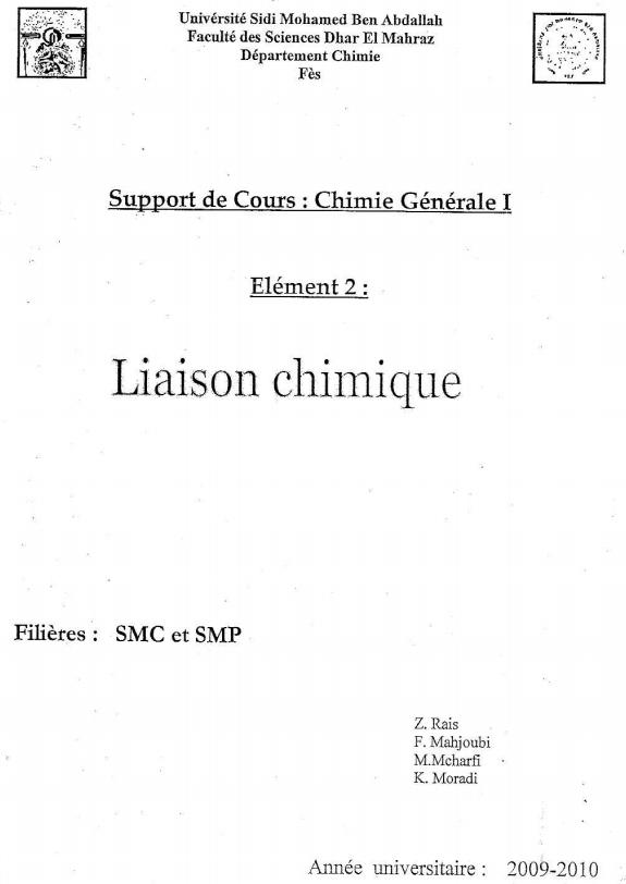 cours liaison chimique smpc s2