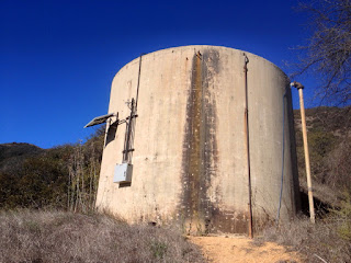 Water tank on east ridge en route to Summit 2843, San Gabriel Canyon, Angeles National Forest