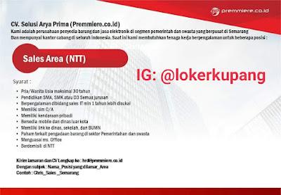 Lowongan Kerja CV. Solusi Arya Prima Sebagai Sales Area (NTT)