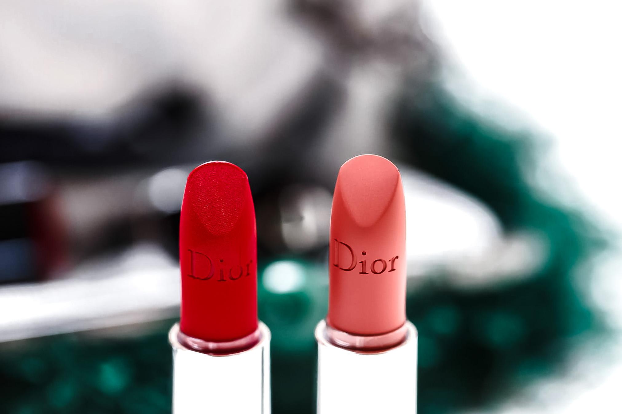 Rouge Dior Velvet et Mat comparaison swatch