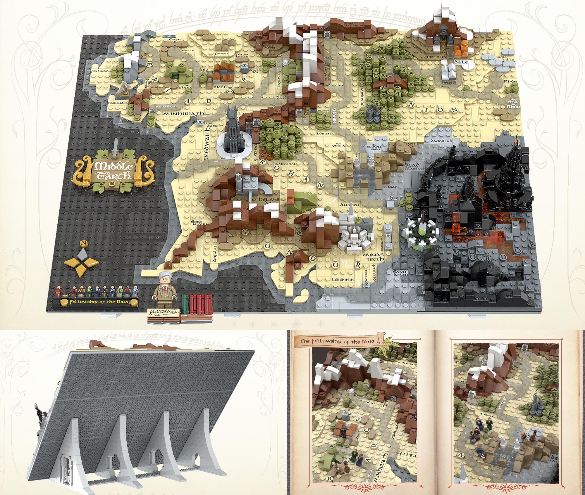 レゴアイデアで『中つ国の地図』が製品化レビュー進出!2021年第1回1万サポート獲得デザイン紹介