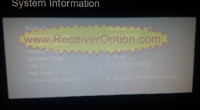 GX6605S HW203.00.023 TYPE HD RECEIVER TEN SPORTS OK NEW SOFTWARE