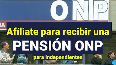 ONP: Afíliate para recibir una pensión y seguro de salud si eres independiente