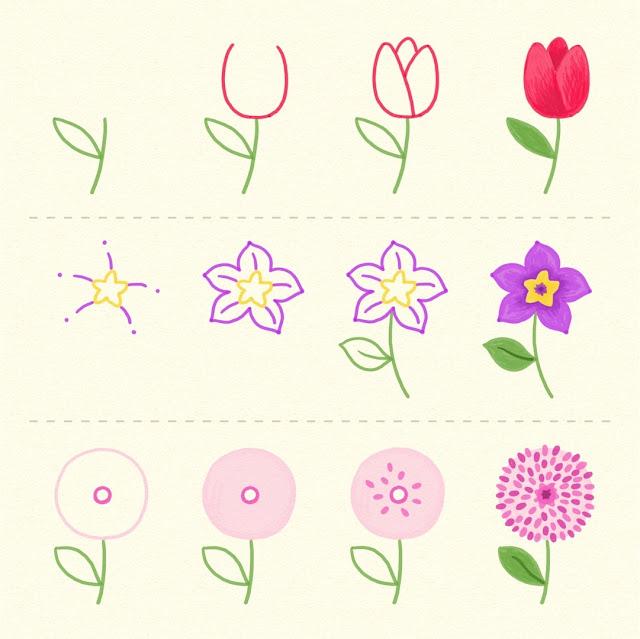 aprender-dibujar-flores