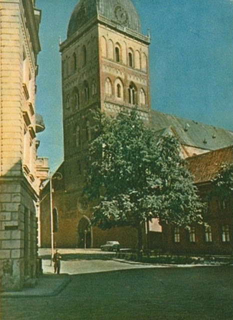 1956 год. Рига. Домский собор (фото: К. Мелбарздиса).