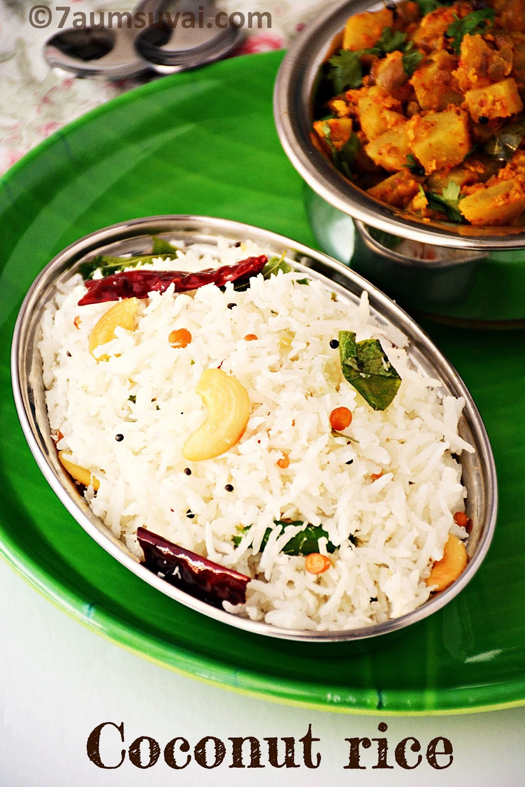 COCONUT RICE THENGAI SADAM THENGAI SADHAM RECIPES WITH