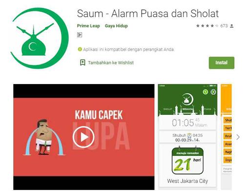 aplikasi android penunjang ibadah puasa