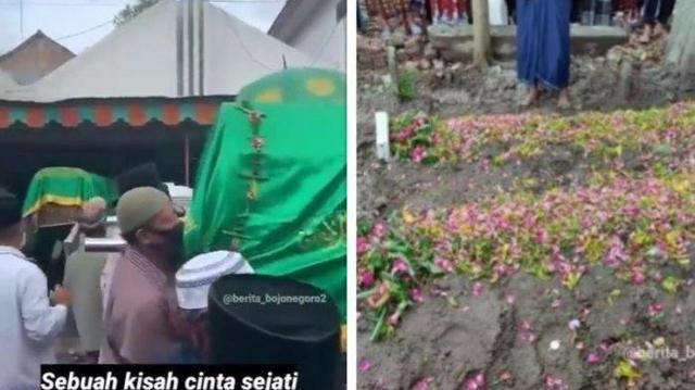 Viral Suami Meninggal Saat Mengaji di Samping Jenazah Istri, Dikuburkan Satu Liang Lahat