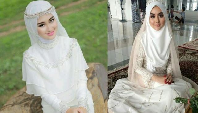 model kreasi aksesoris jilbab pengantin muslimah sederhana
