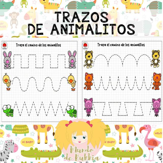 planas-trazos-grafomotricidad-animalitos-preescolar