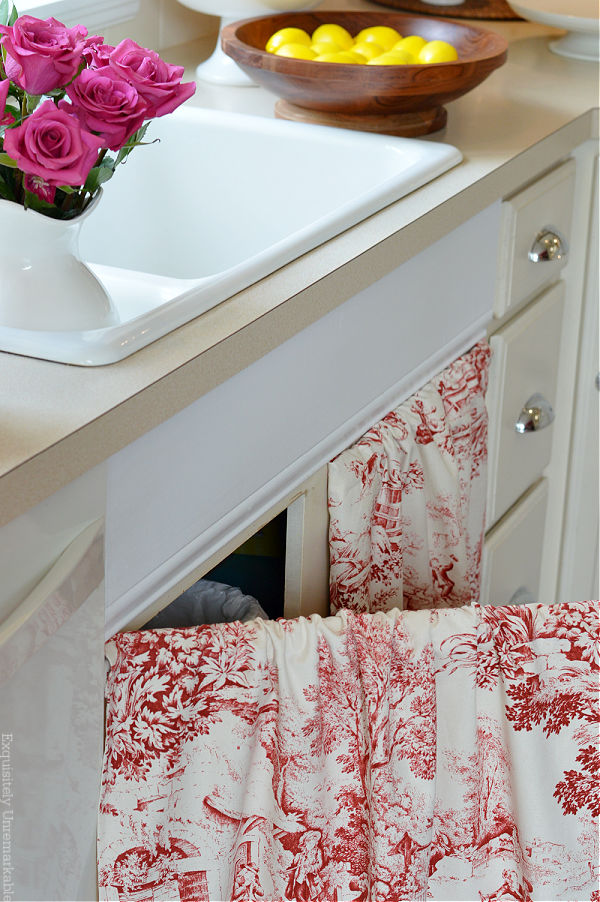 Sink Skirt that opens like a cabinet door