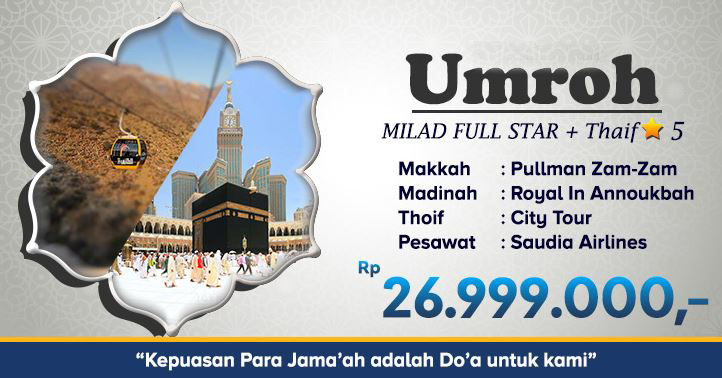 umroh milad plus thaif full star