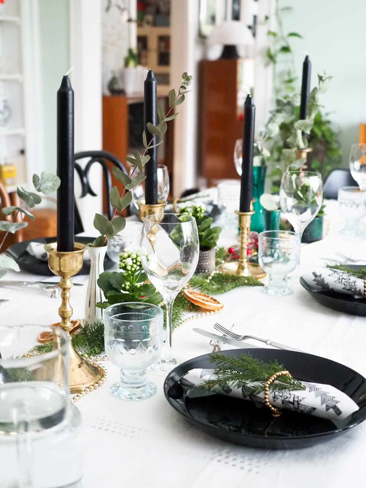 jouluinen kattaus, joulupöytä, joulu